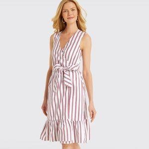 Draper James NWT Size 0 Striped Wrap Cotton Dress